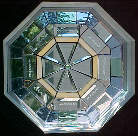 Natural Elements Stained Glass Octagon Window